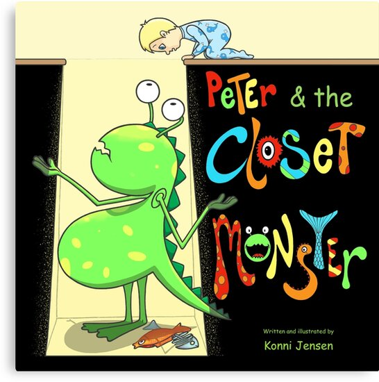 Peter & the Closet Monster, cover by Konni Jensen