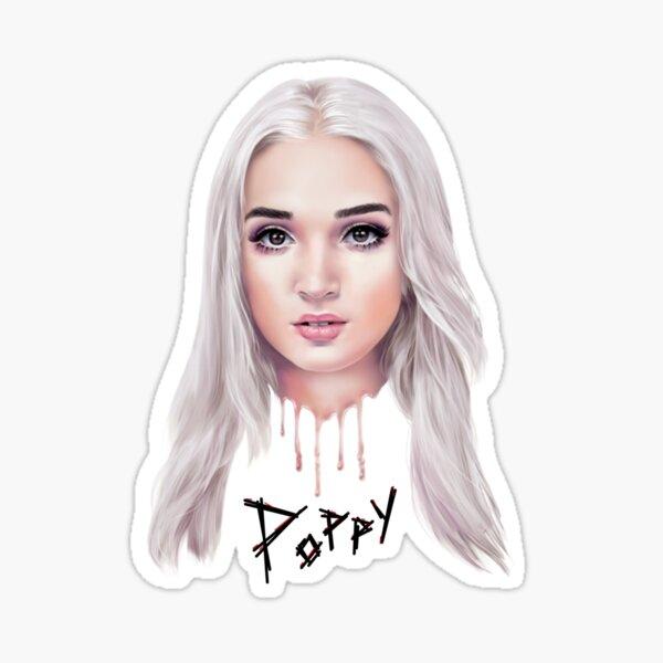 Poppy Drip Sticker