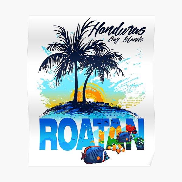 Honduras Roatan Bay Islands Póster
