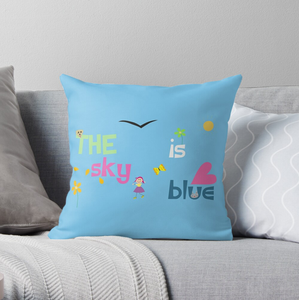 The Sky Is Blue Throw Pillow