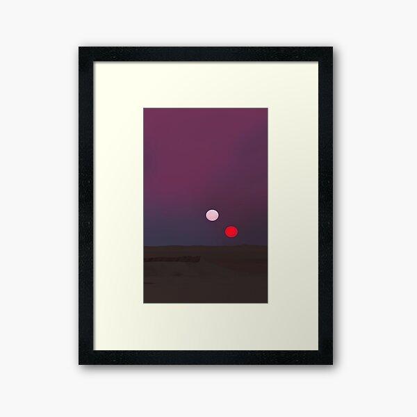 Sunset on Tatooine Framed Art Print