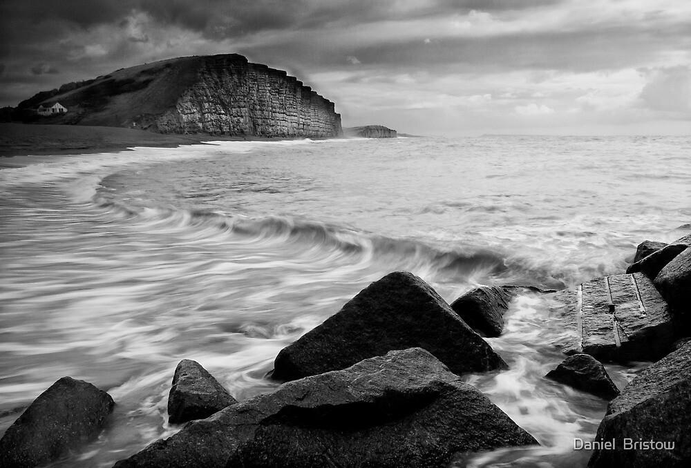 East Beach Black and White by Daniel  Bristow