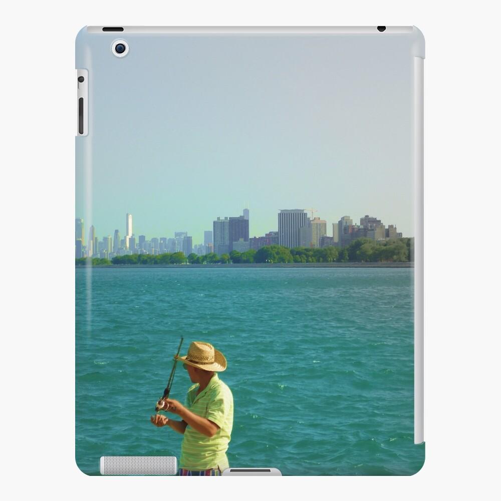 Fishin' @ the Lake Michigan  iPad Case & Skin