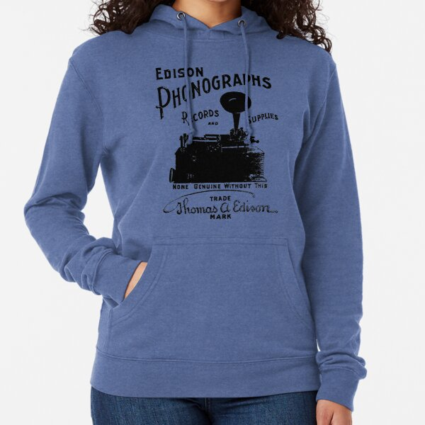 Edison Phonographs, Records, and Supplies Lightweight Hoodie