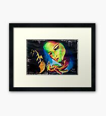 Girl in Love Framed Print