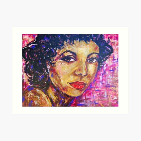 Dorothy Dandridge Portrait Painting Art Print