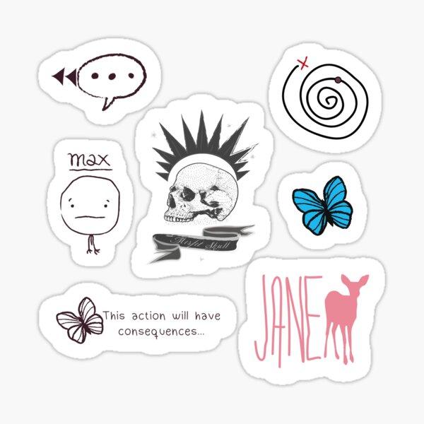 La vie est étrange - feuille d'autocollants Sticker