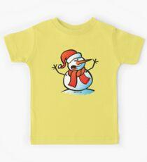Snowman Shouting Kids Tee