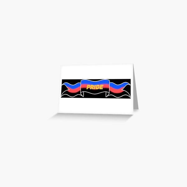 polyamory pride banner Greeting Card