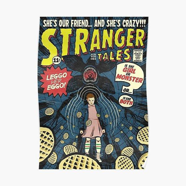 Portada Retro de Stranger Things Póster