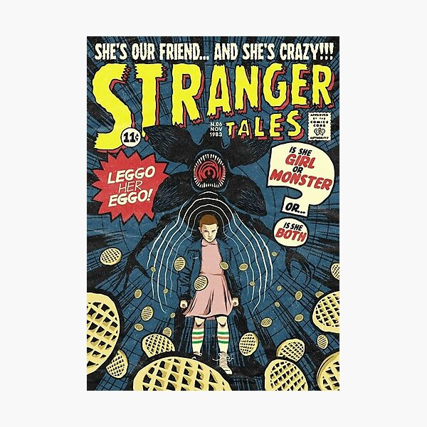 Couverture rétro Stranger Things Impression photo