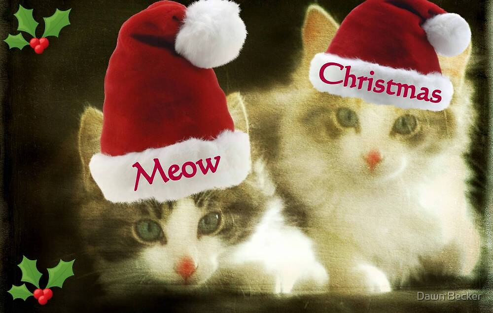 Meow Meow Christmas From Us!!! © by Dawn Becker