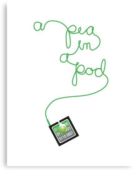 ipod pea in a pod by Veera Pfaffli