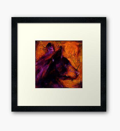 Black Bear People Are Dreamers III Framed Print