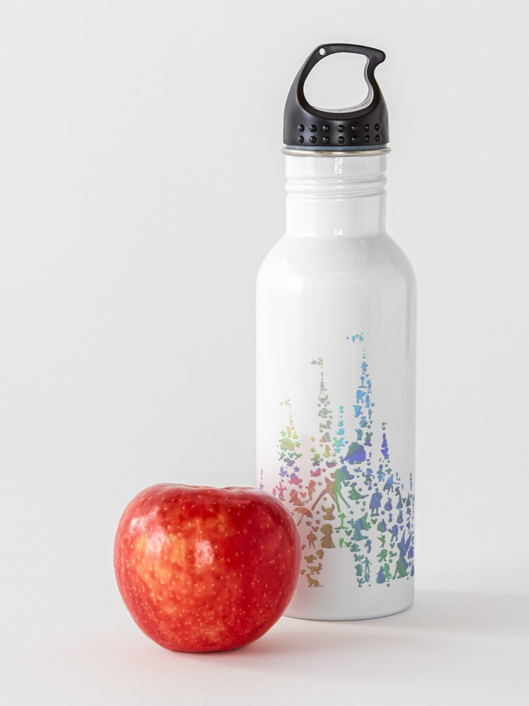Alternate view of Happiest Castle On Earth (Rainbow Explosion) Water Bottle