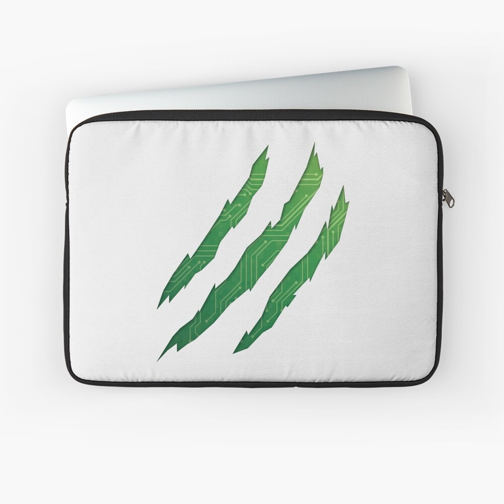Torn up cloth revealing circuit board Laptop Sleeve