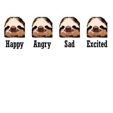 Sloth Emotions by samohtbackwards