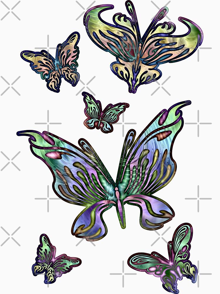 Rainbow Butterflies by kerravonsen