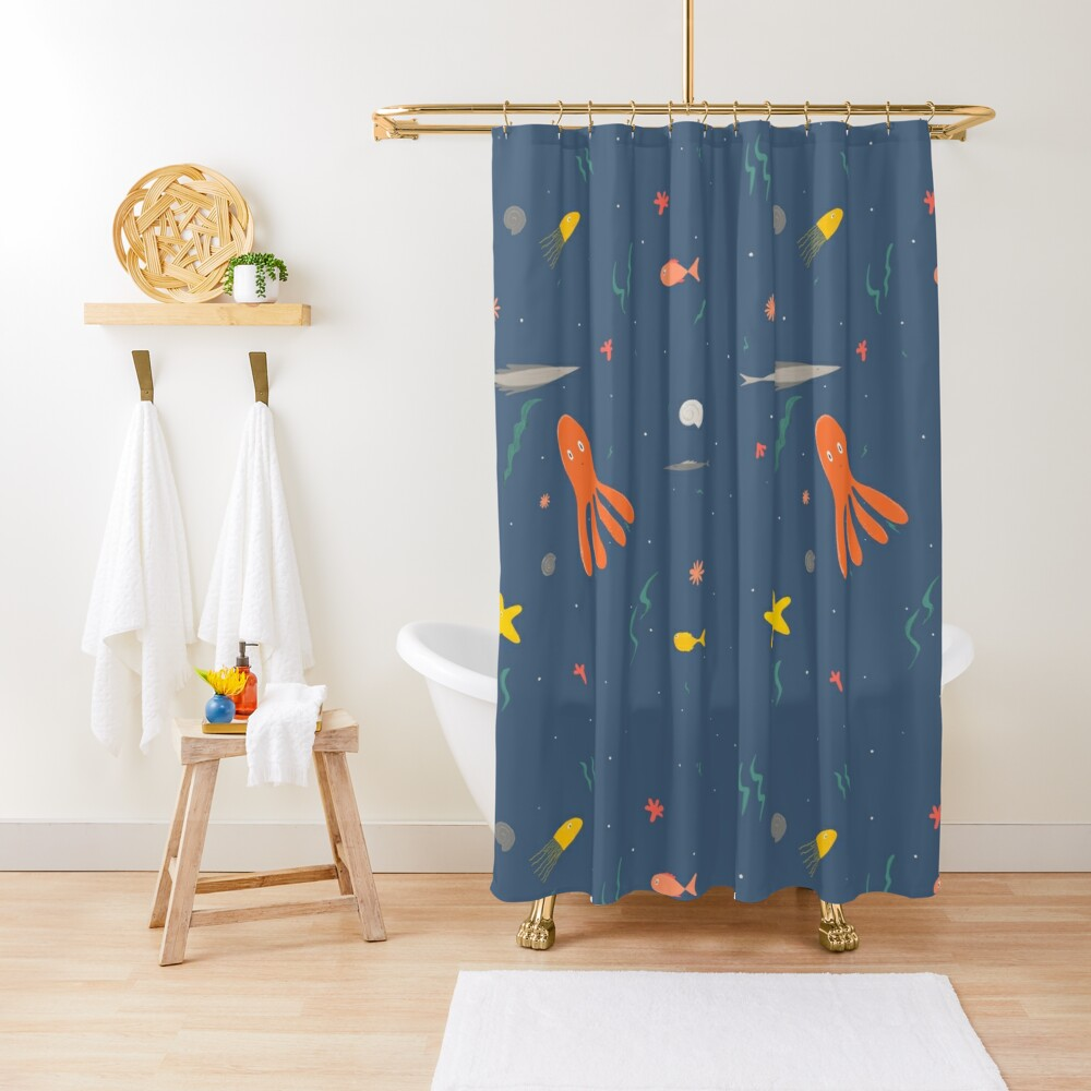 Ocean sea animals Shower Curtain