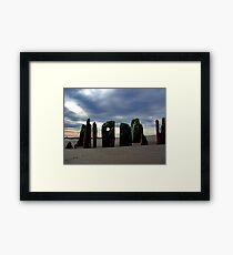 Fort Tilden Driftwood Framed Print