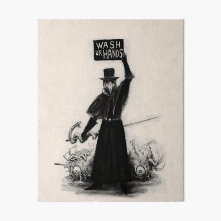 Plague Doctor Art Board Print