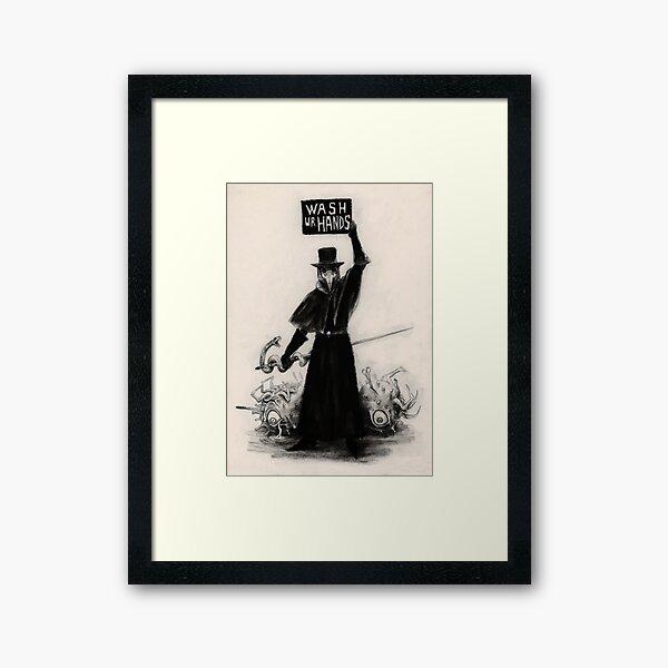 Plague Doctor Framed Art Print