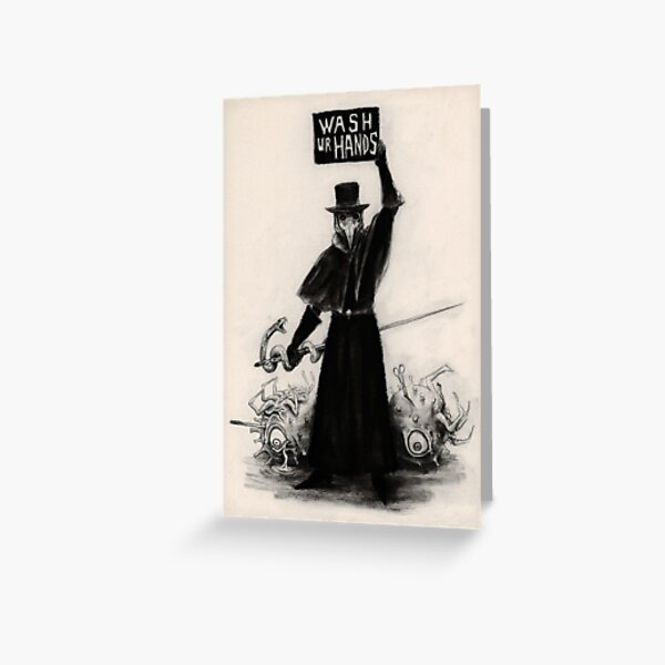 Plague Doctor Greeting Card