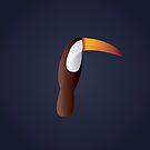 Minimalist Toucan by keenanzucker