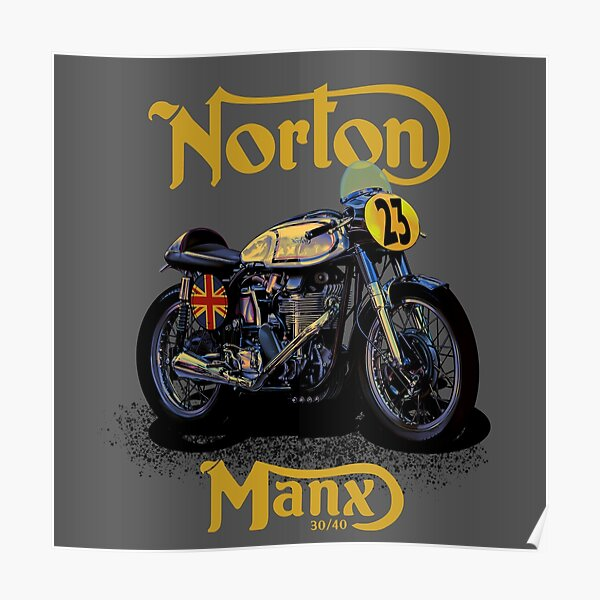 Vintage Motorcycle Norton Manx Racer by MotorManiac Poster