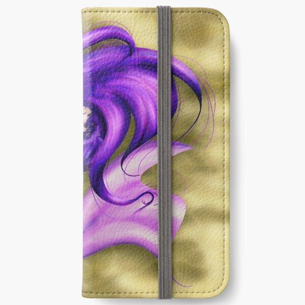 Shy Purple Mermaid Naraku iPhone Wallet