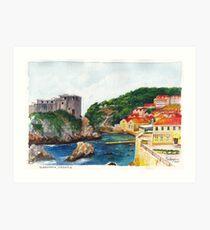Dubrovnik, Croatia Kunstdruck