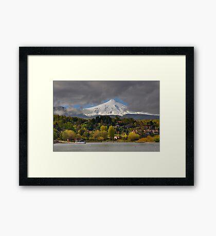 Pucon and Volcano Villarica Framed Print