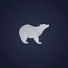 Minimalist Polar Bear by keenanzucker