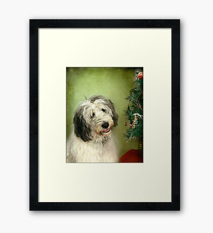 """"""" I Hope There Really Is A Santa Paws . . ."""" Framed Print"""