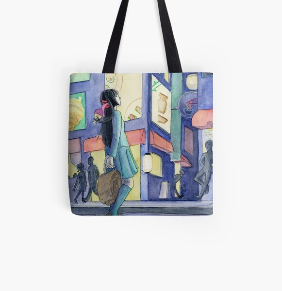 All You Can Eat All Over Print Tote Bag