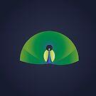 Minimalist Peacock by keenanzucker