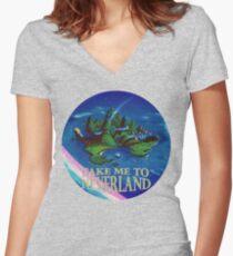 Camiseta entallada de cuello en V Llévame a Neverland