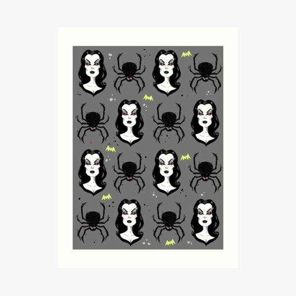 Vampira and Spiders Art Print