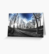 The blues of Autumn and the beginning of winter Greeting Card