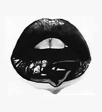 Ink Lips Photographic Print