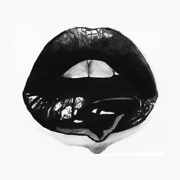 Ink Lips Photographic Print
