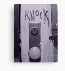 Knock Canvas Print