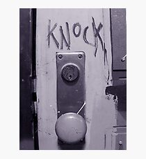 Knock Photographic Print