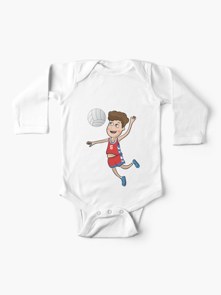 Newborn Childrens Love Volleyball Printed Long Sleeve 100/% Cotton Infants Tops
