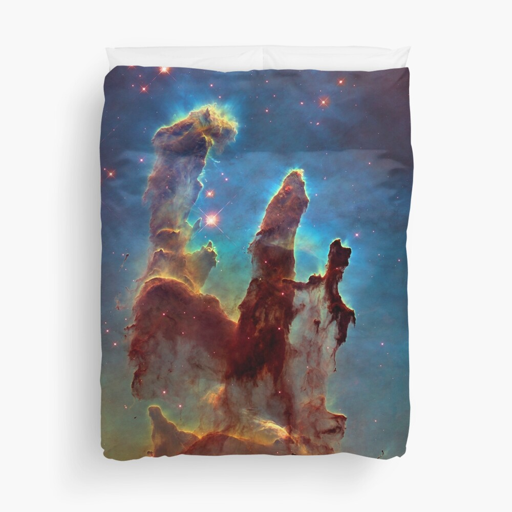The Pillars of Creation. Isn't Science Wonderful? Duvet Cover