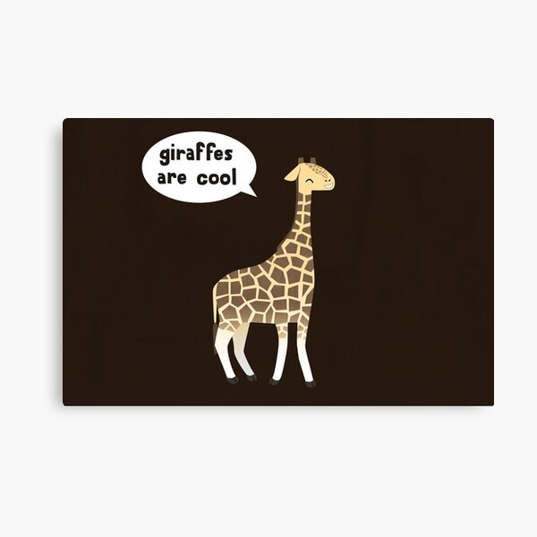Giraffes are cool Canvas Print