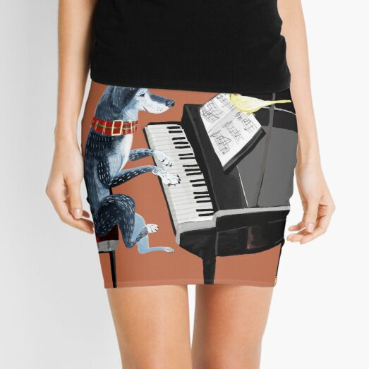 Piano lesson with Angel Mini Skirt