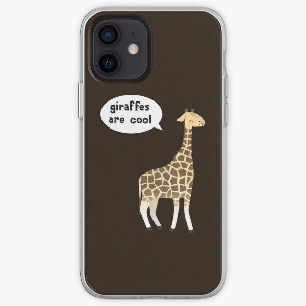 Giraffes are cool iPhone Soft Case