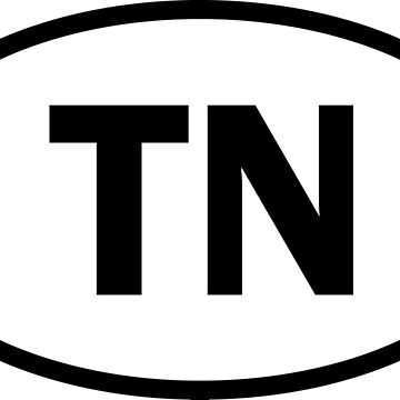 Tennessee - TN - oval sticker and more by welikestuff