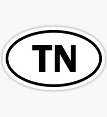 Tennessee - TN - oval sticker and more Sticker